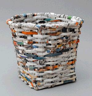 News Paper Bin-Studio Verissimo-Magma