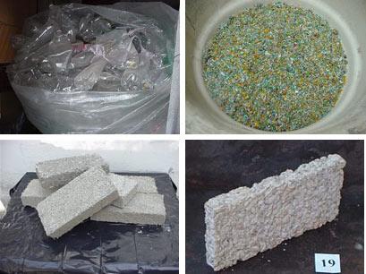 Ladrillos de Plástico y Cáscara de maní-CEVE-AVE