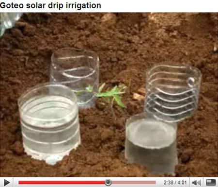 Goteo Solar drip Irrigation-You tube