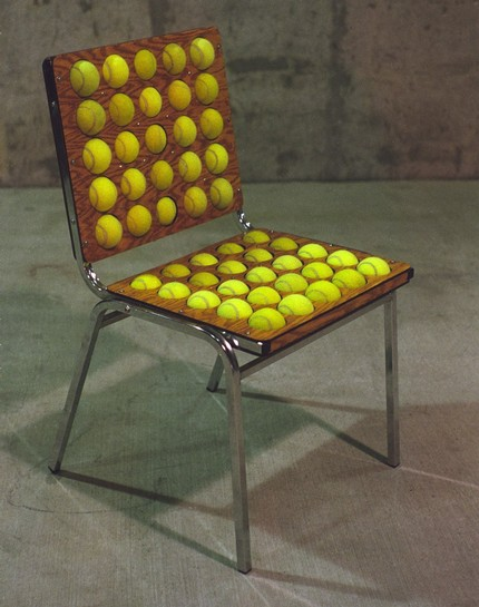 Tenis ball chair- design from wholman