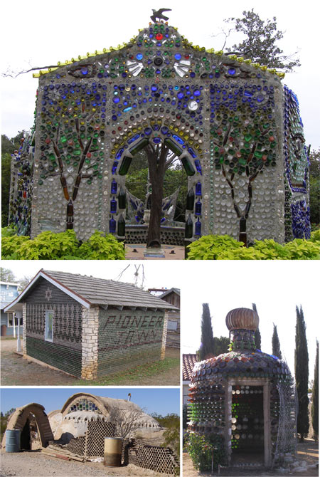 Casas de botellas Fuente: Roadside Arquitecture en Agilitynut, Seltzer, Debra Jane.