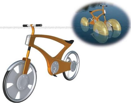 amphibious bicicle