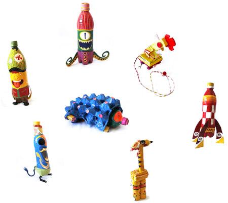 Udunekos- juguetes a partir de basura