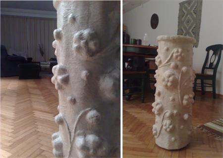 Fabiana, Jarrón imitación madera