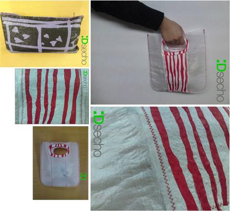 :Dsecho - Diseño reutilizando bolsas de plástico.
