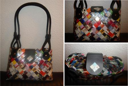 Bolsos de papel reciclado - Miki597