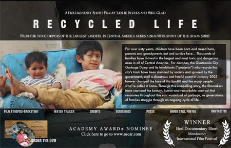 Documental Recycled Life de Leslie Iwerks hecho en el Sector 3 el mayor vertedero de América Central en Guatemala
