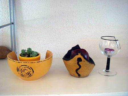 Platos y vasos reutilizados - A3Recoloart