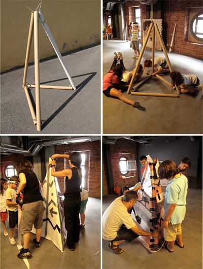 Arkitente: arquitectura para niños reutilizando - Zaramari