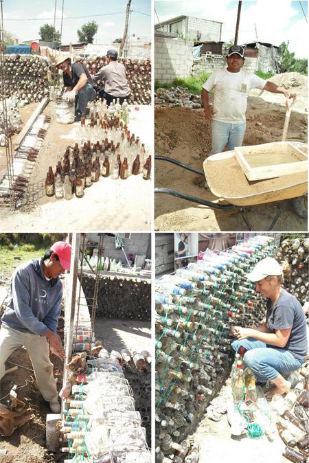 Casa con botellas en México - Fotos de Mario Alberto Tapia Retana