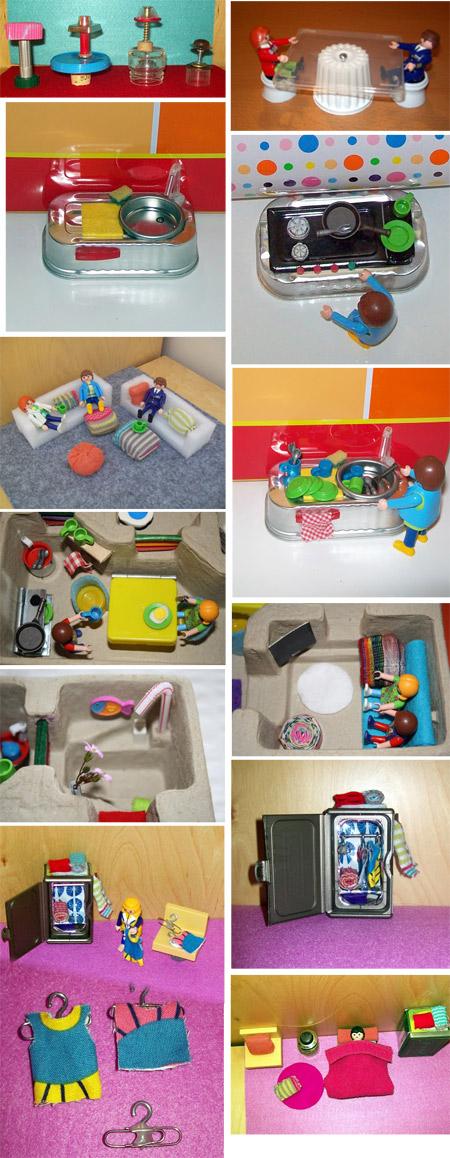 Casa de muñecas - Reciclando en la escuela.