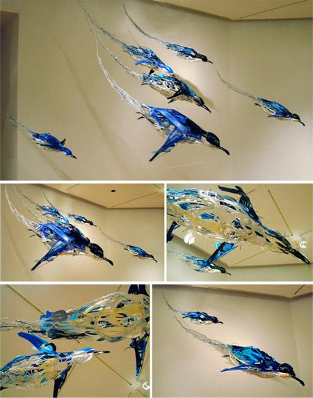 Sayaka Kajita Ganz Arte con objetos desechados