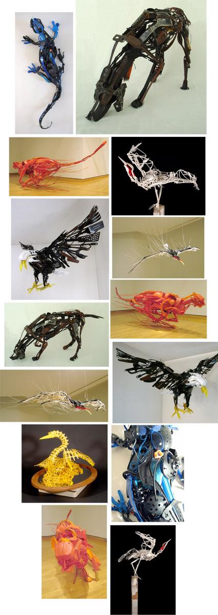Arte con objetos desechados - www.sayakaganz.com