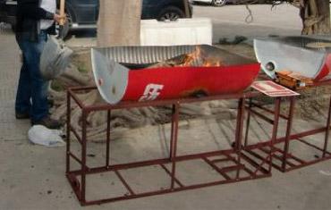 Barbacoa hecha con bidón - daleotrouso.blogspot.com