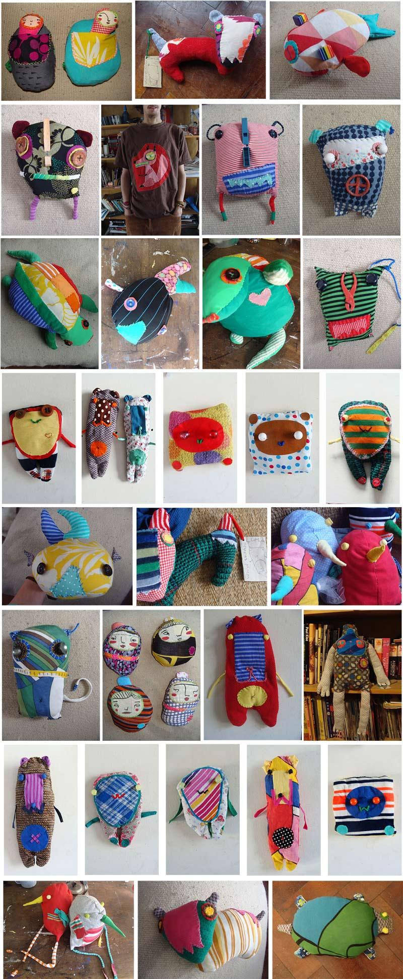 udunekos de tela juguetes con materiales reciclados