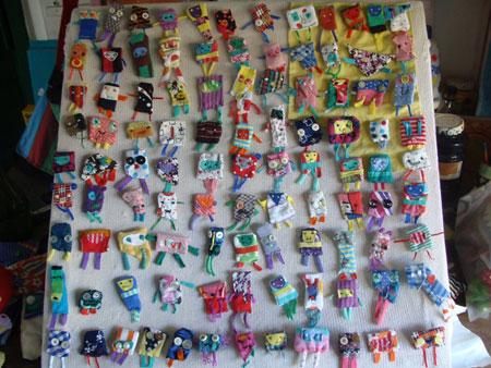 Udunekos de tela - Juguetes con materiales reciclados