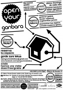 Cartel Open Your Ganbara Febrero