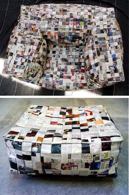 Sofá Away hecho con papel por Rubcn - Retrain