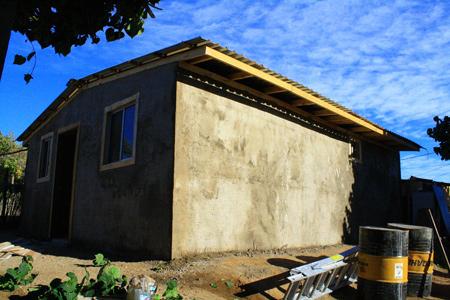 Viviendas construidas con palés o tarimas. Bahía de Kino - México