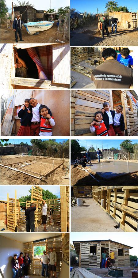 Casas hechas con palés o tarimas. Bahía de Kino - México - Mario A. Tapia