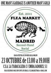 Flea poster madrid october 2011