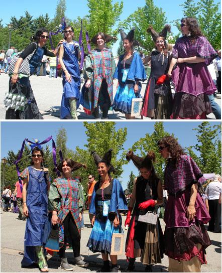 Vestidos hechos a partir de paraguas desechados - Dolo Navas