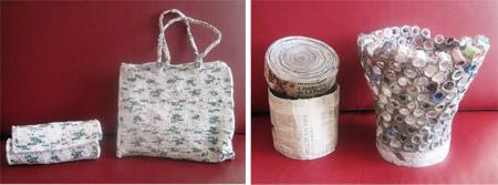 Artesanía de papel y plástico reciclando - Yasna y Ana Maria