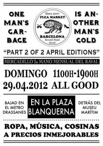 Flea Market el 29 de abril en Barcelona