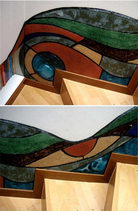 Mural con vidrio reciclado CG - Reciclado Artístico