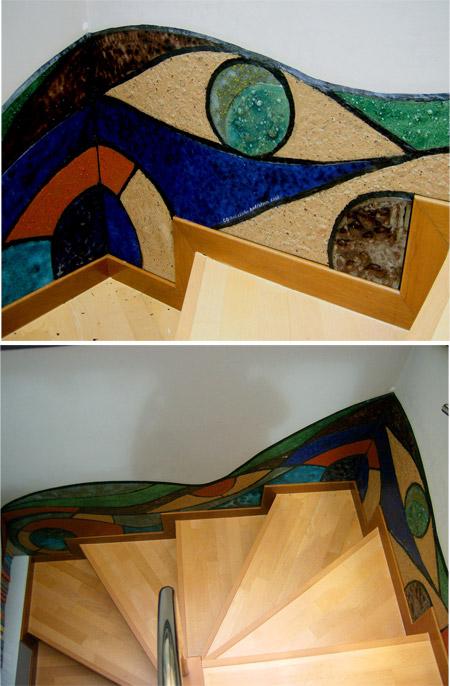 Basurillas » Blog Archive Mural de vidrio y escultura de latas y