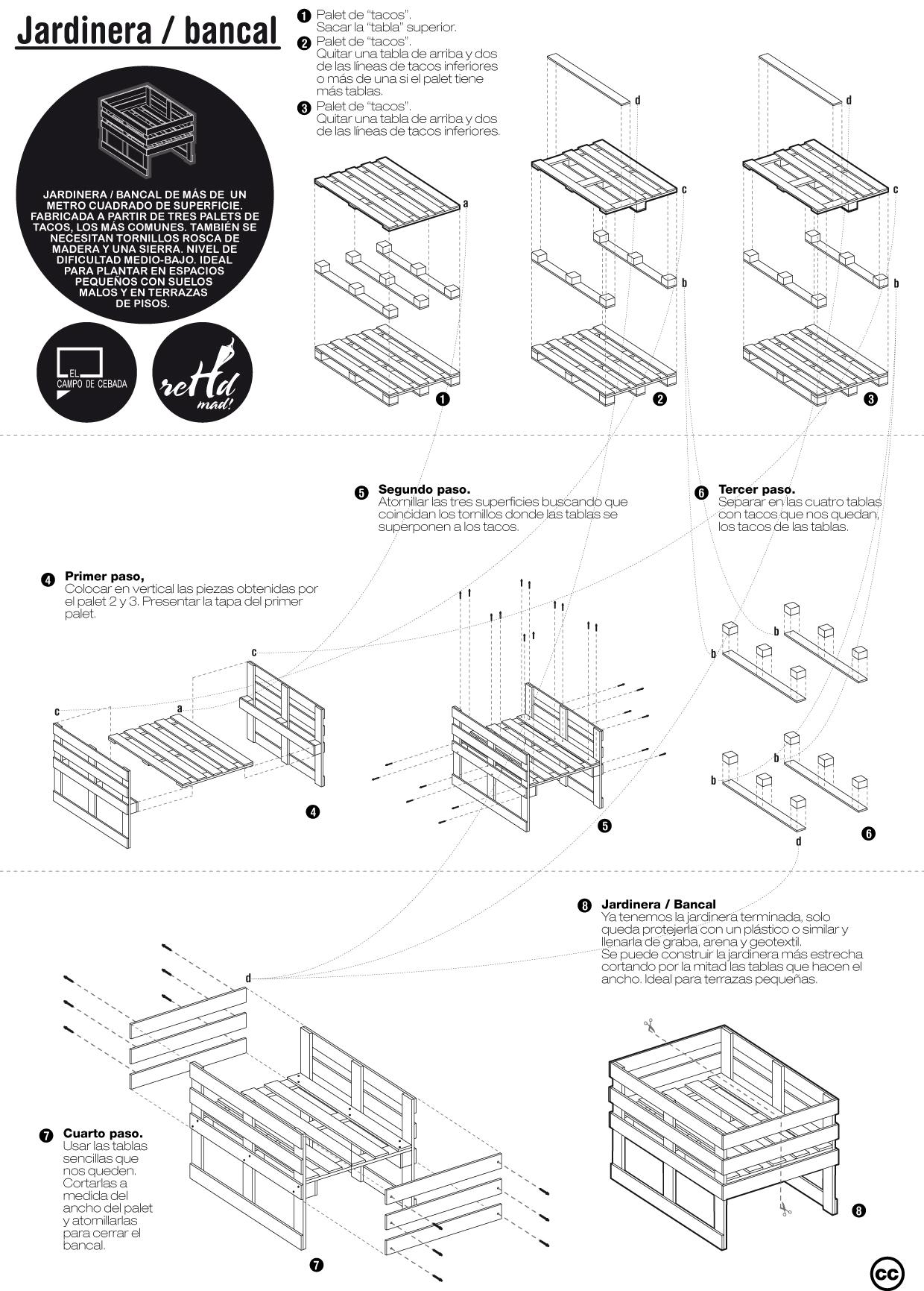 Planos de diferentes muebles hechos con palets muy ingenioso for Como hacer muebles con palets paso a paso