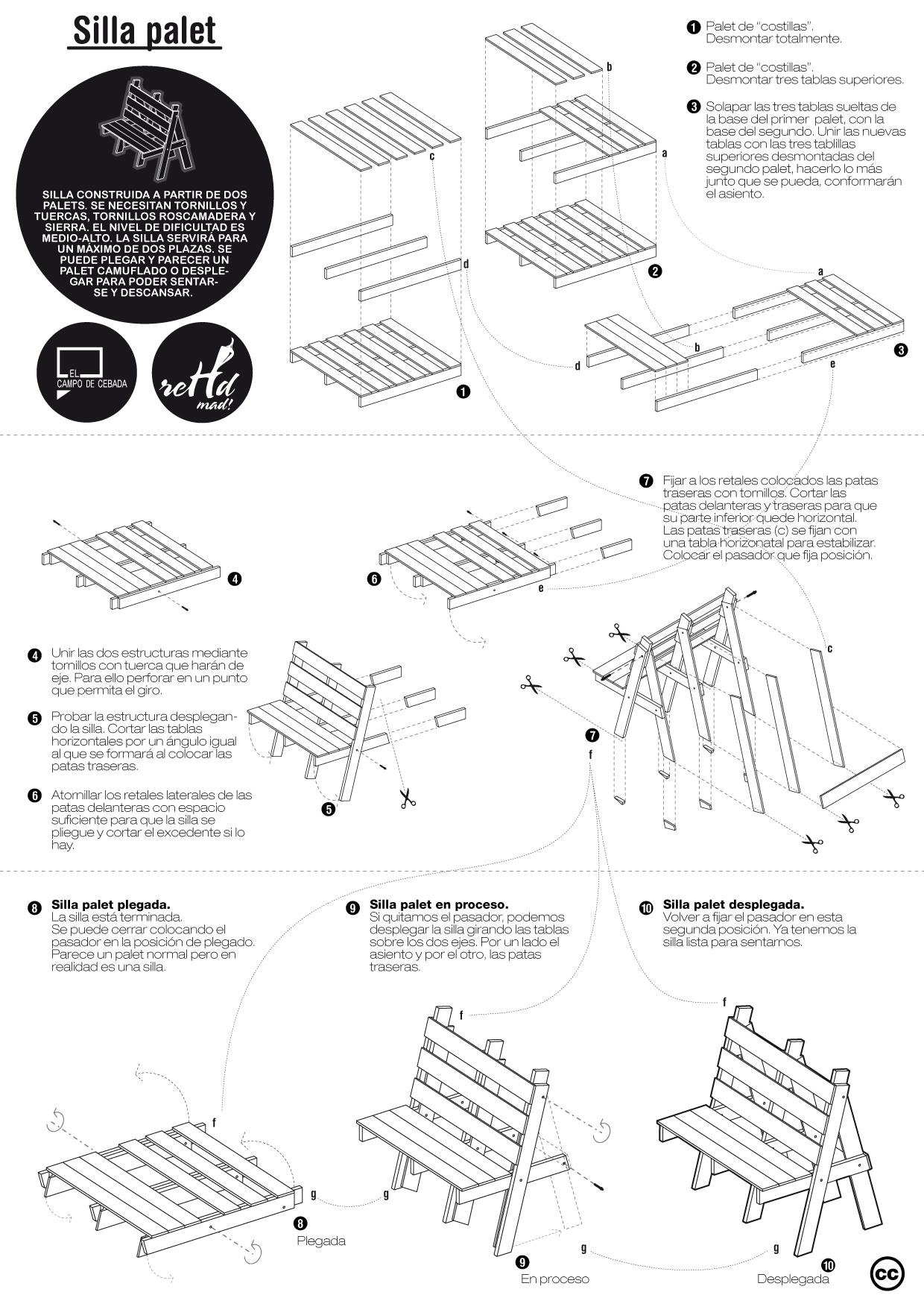 Planos de diferentes muebles hechos con palets muy ingenioso - Como hacer un sillon paso a paso ...