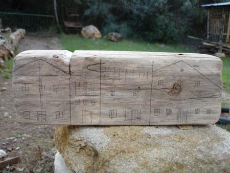 Casas en miniatura hechas reutilizando madera vieja - Made Madera