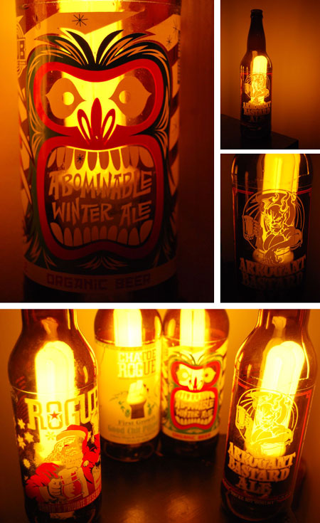 Lámpara hecha con botellas de cristal - by fabulouswailer - Instructables.com