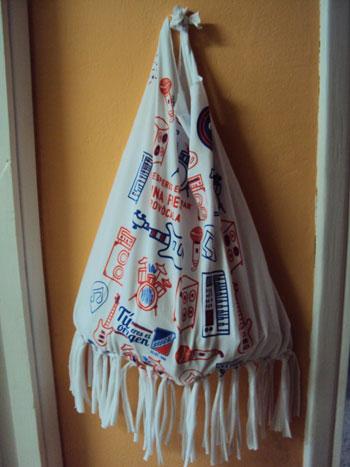 Cómo hacer un bolso con una camiseta - si vous voulez podeis