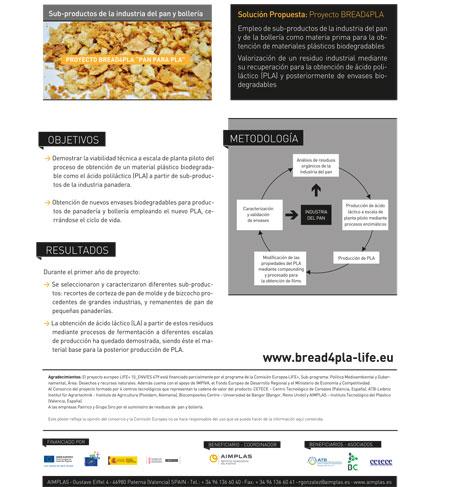 Proyecto BREAD4PLA de AIMPLAS