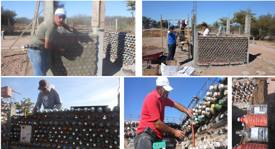 Basurillas blog archive casa de botellas con techo verde for Construccion de piletas paso a paso