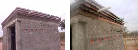 Construcción de la casa pet con techo verde