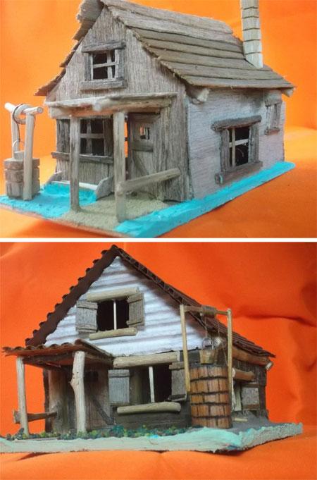 Mis pequeñas obras - Jorge William Vegazo - maquetas reciclando