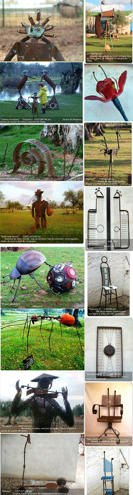 Escultura con materiales reciclados - Ricardo Muñoz Bravo