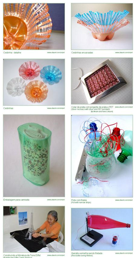 La artesanía con botellas Pet de Takashi Utsumi