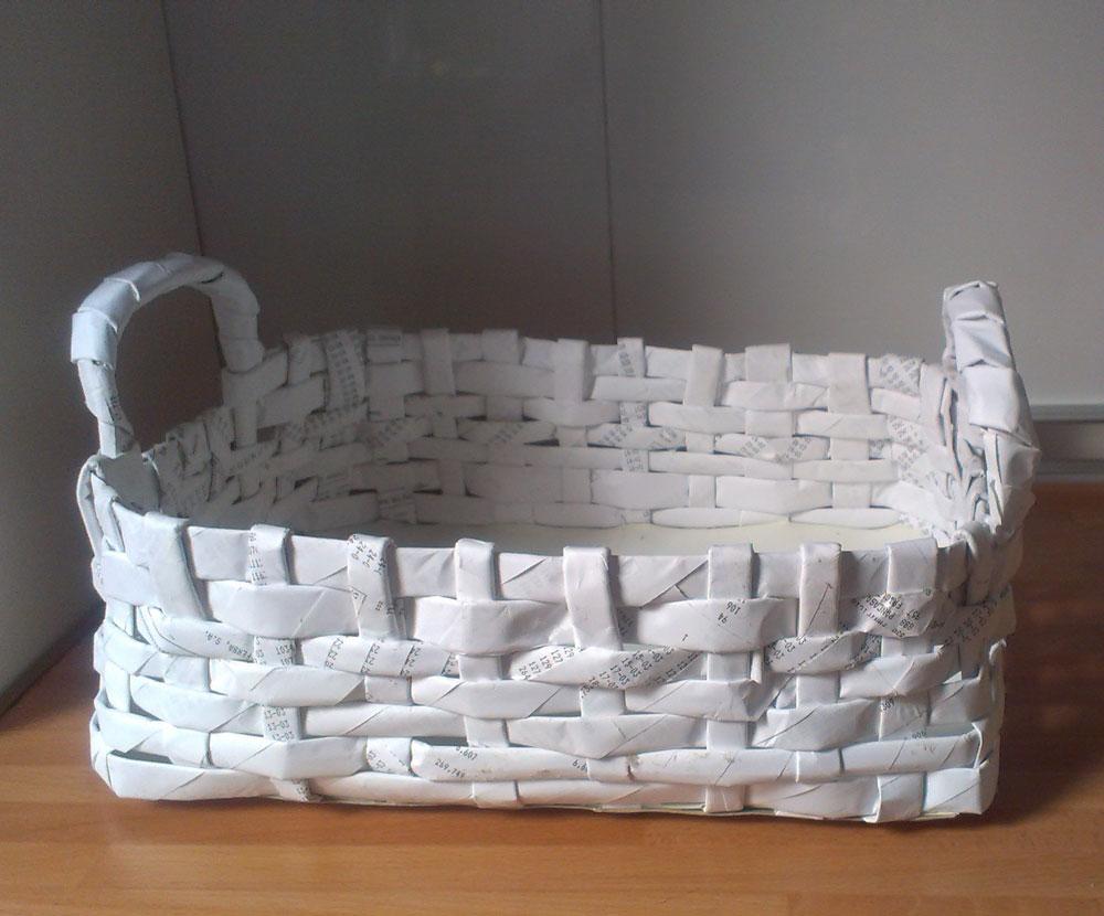 Basurillas blog archive c mo hacer cestas con papel for Fabrica de canastas de mimbre