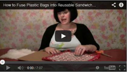 How to Fuse Plastic Bags into Reusable Sandwich Bags by craftster