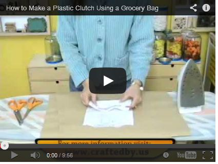 How to Make a Plastic Clutch Using a Grocery Bag by Michelle Johnson