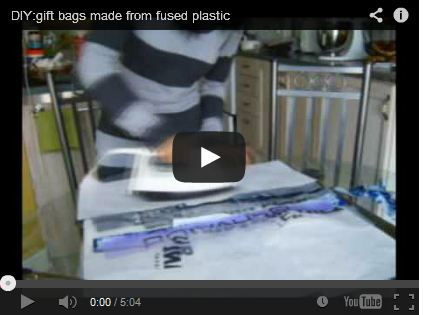 DIY:gift bags made from fused plastic by findKHRISTINE