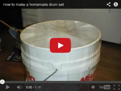 How to make a homemade drum set by GreenTree732