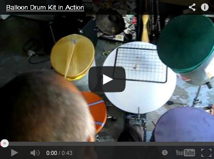 Balloon Drum Kit in Action by balloonbass