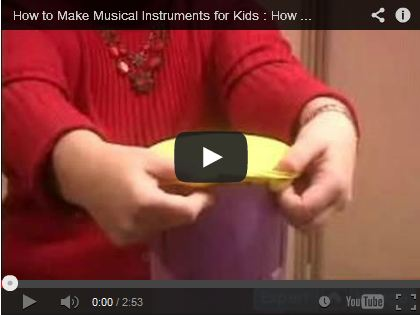 How to Make Musical Instruments for Kids : How to Make a Tom Tom Drum Using a Container & Balloons by expertvillage