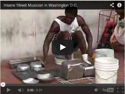 Insane Street Musician in Washington D.C. by nicovanduijn