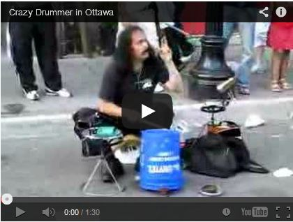 Crazy Drummer in Ottawa by Andrew Beaudoin